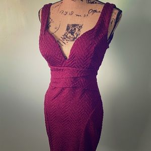Burgundy Cocktail Dress